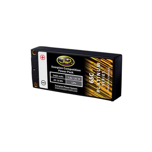 3400mAh 2s 7.4v 65C LiPo Battery