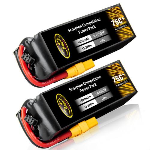 1800mAh 75C 7.4V Lipo battery