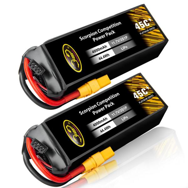 4000mAh 45C 11.1V 3S lipo battery
