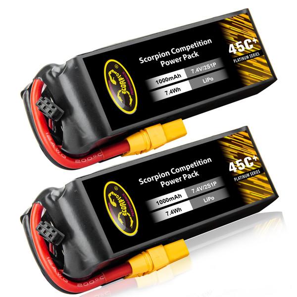 1000mAh 2S Lipo Battery