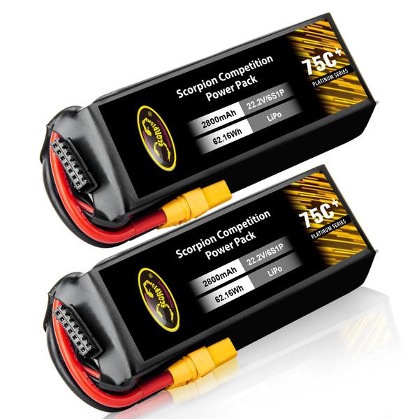 2800mAh 75C lipo battery