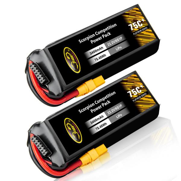 3400mAh lipo battery