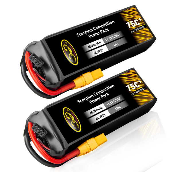 4000mAh 75C 11.1V 3S lipo battery