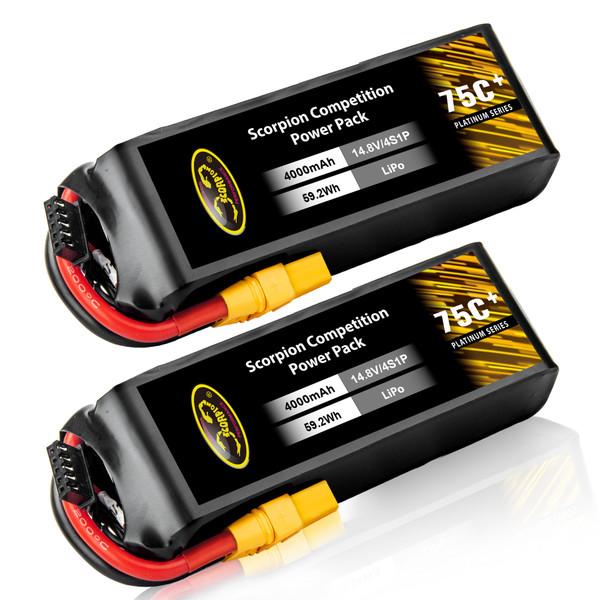 4000mAh lipo battery