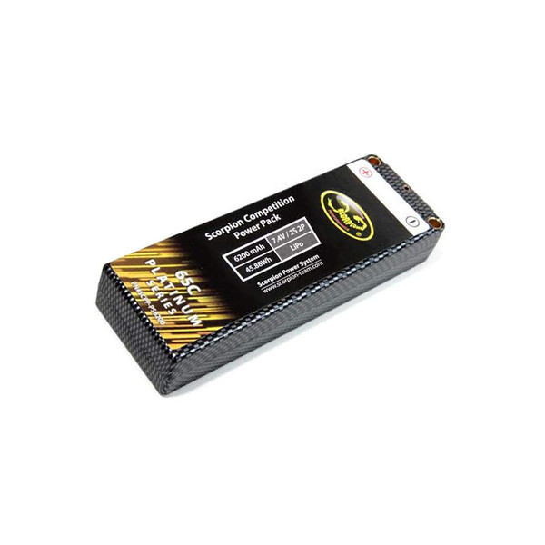 Hard Case 6200mAh 2s 7.4v 65c LiPo Battery