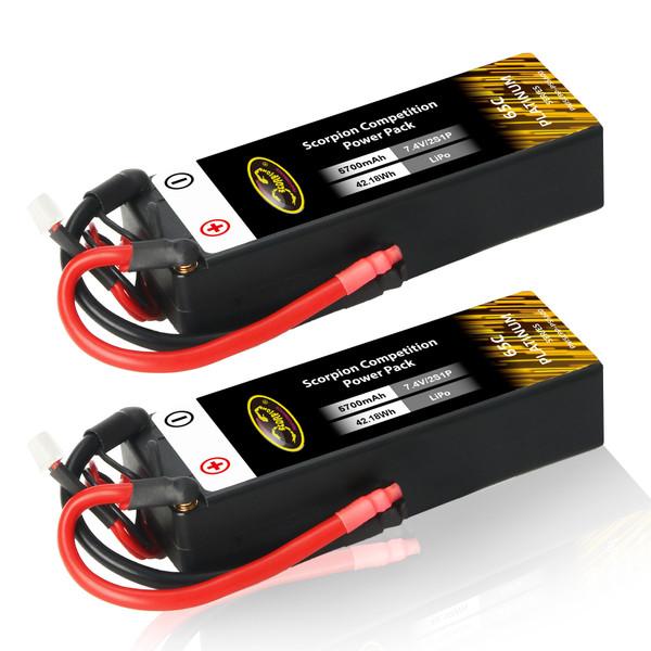 2s 7.4v lipo battery pack