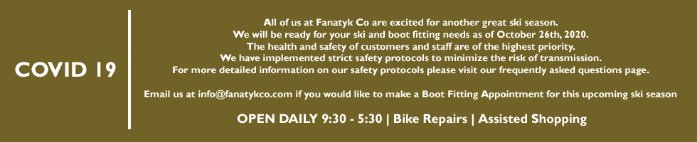 FanatykCo Ski Shop | COVID 19 Message
