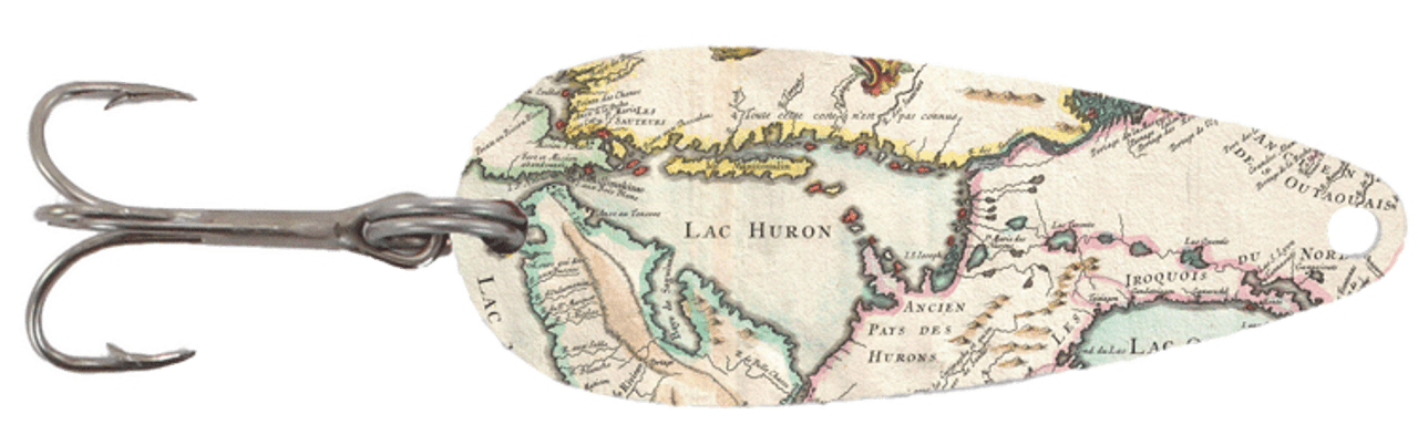 Lake Huron Map Casting Spoon