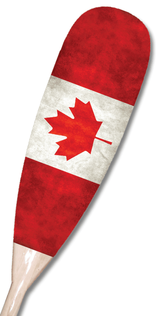 Vintage Canadian Flag Paddle