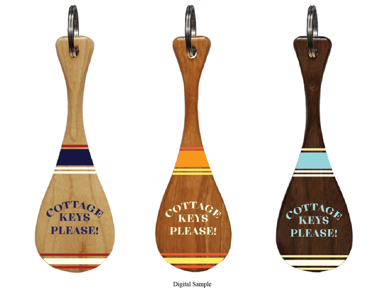Cottage Keys Please Mini Paddle Keychain