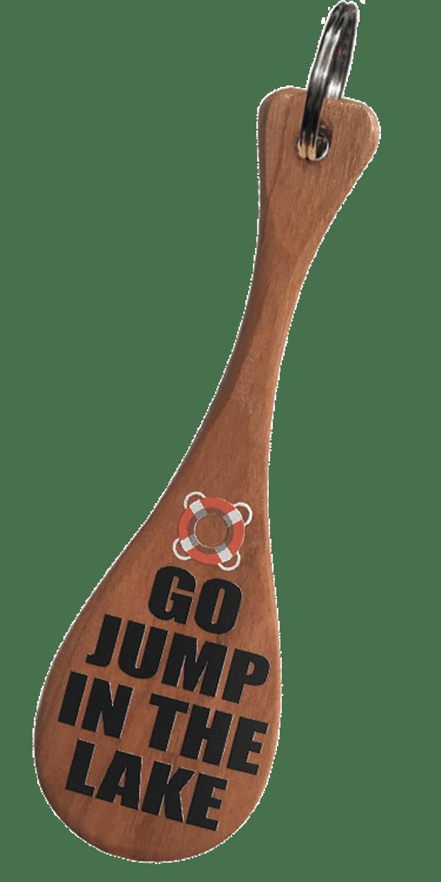 "5"" Cherry Go Jump in the Lake Mini Paddle Keychain"