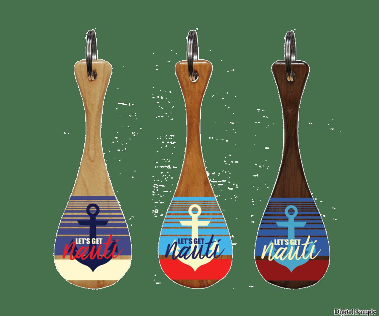 Let's Get Nauti Mini Paddle Keychain