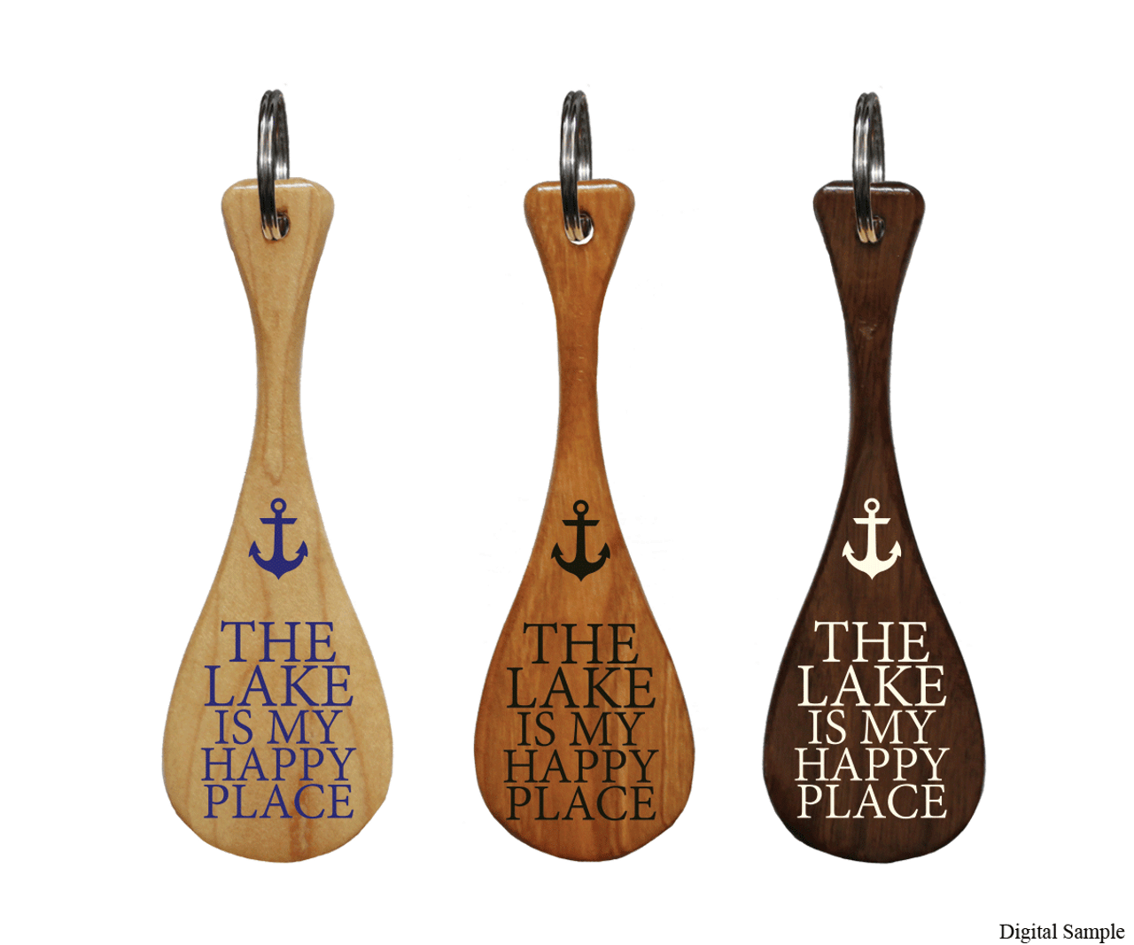 The Lake Is My Happy Place Mini Paddle Keychain