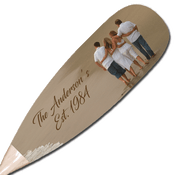 Personalized family sign paddle