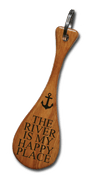 The River Is My Happy Place Mini Paddle Keychain