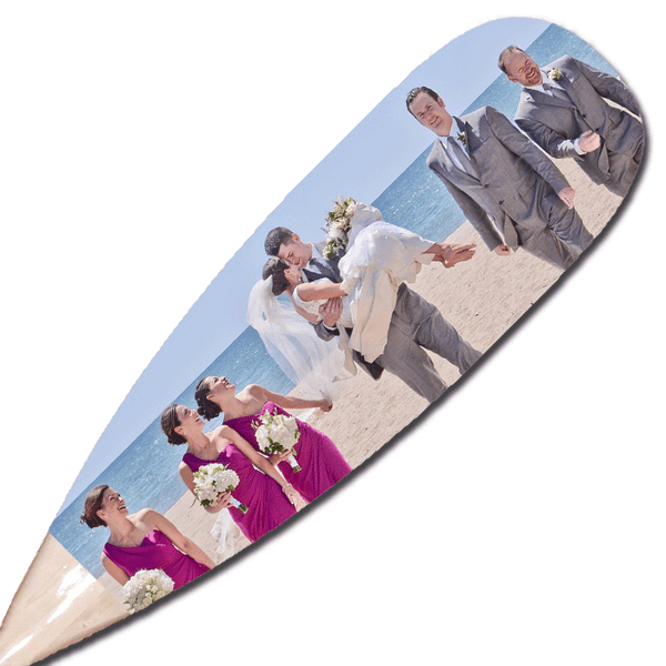 Wedding paddle | Personalize your decorative canoe paddle for the perfect gift for an outdoors enthusiast couple! Also available to customize for a wedding guest book paddle!