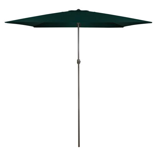 10ft x 6.5ft Outdoor Patio Market Umbrella with Hand Crank, Hunter Green