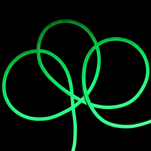 50' Green LED Neon Style Flexible Christmas Rope Lights