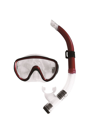 14+ Years - Red Scuba Mask and Snorkel Pool Set