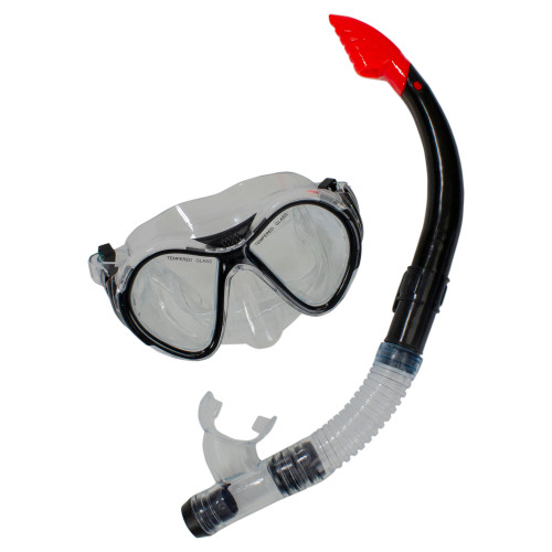 14+ Years - Black Scuba Mask with Snorkel Pool Set