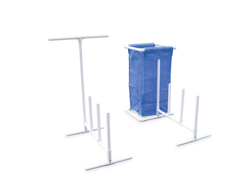 37-Inch HydroTools Blue And White Poolside Accessories Organizer