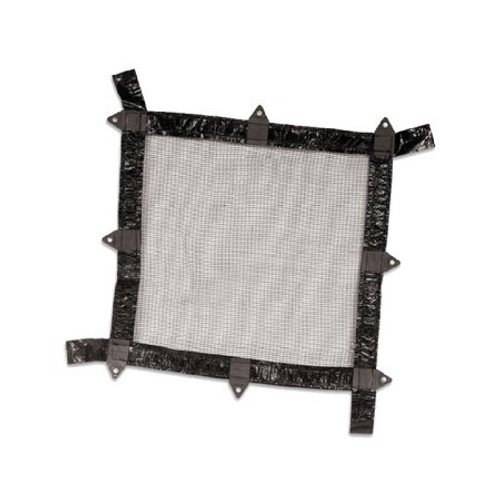 Jet Black and White Deluxe Closing Leaf Rectangular Net Cover for In-Ground Swimming Pool 16' x 24'