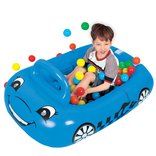 "46"" Blue Car Ball Pit Kiddie Pool"