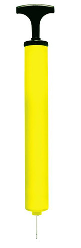"12.5"" Yellow and Black Portable Game Ball Hand Pump for Swimming Pool and Spa"
