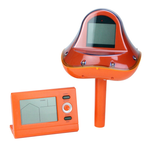 """8"""" Orange Wireless Digital Swimming Pool Thermometer with Receiver Station"""