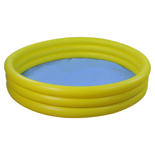 """39"""" Yellow Triple Ring Round Inflatable Children's Swimming Pool"""