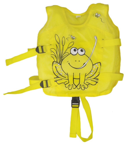 """13.25"""" Yellow Hungry Frog Intermediate Swim Vest - Ages 1 - 3"""