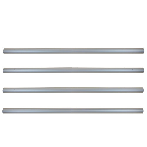 """16' x 3"""" Tubes for In-Ground Swimming Pool Cover Reel System - Set of 4"""