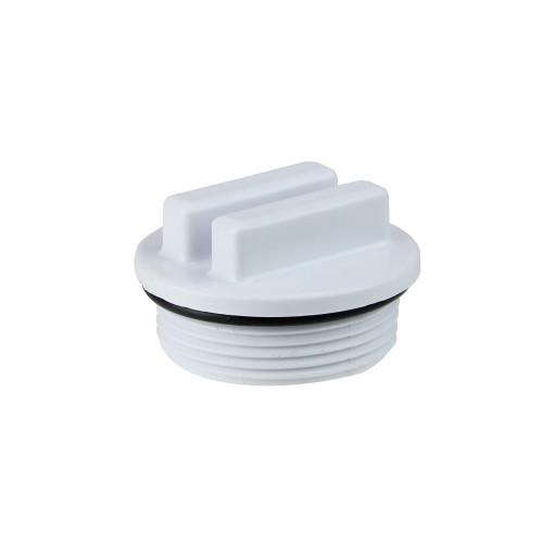 "1.5"" White Threaded Swimming Pool Return Line Winterizing Plug Cap"
