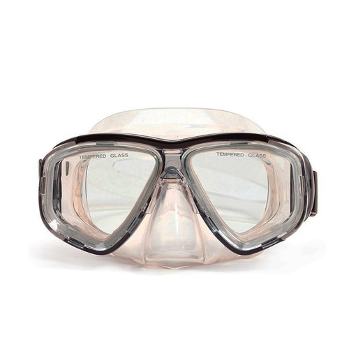 "6.25"" Malibu Black and Clear Pro Mask Swimming Pool Accessory for Adults"