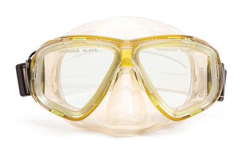 "5.5"" Yellow and Clear Newport Mask Swimming Pool Accessory"
