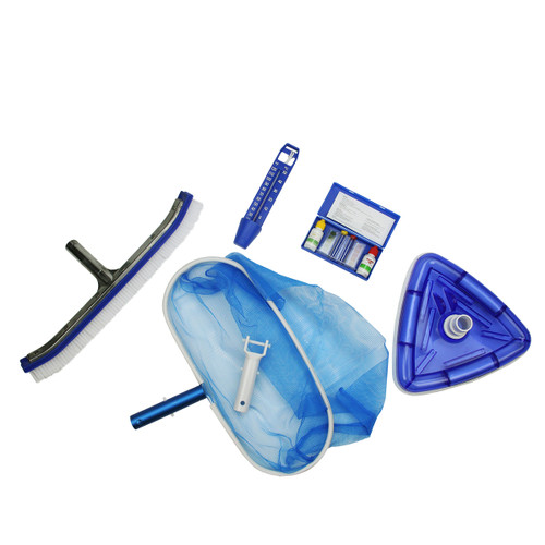 5-Piece Swimming Pool Cleaning and Water Testing Kit