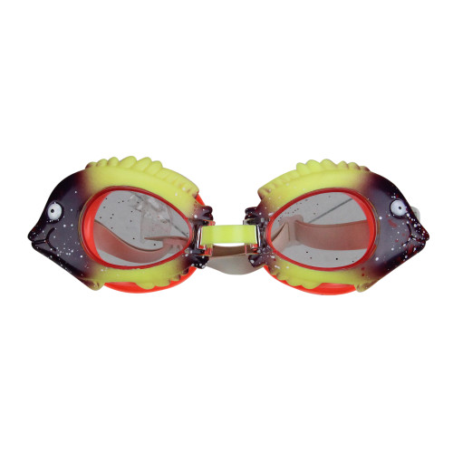 Yellow and Purple Fish Frame Swimming Pool Goggles for Children