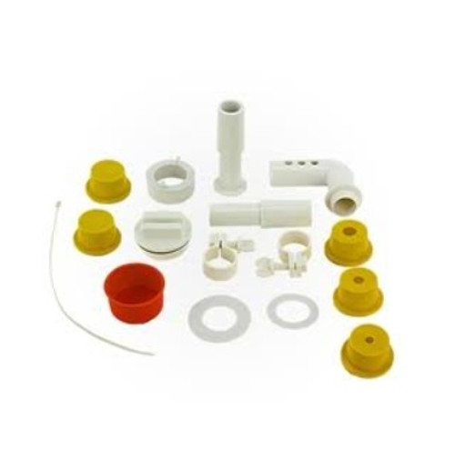 Set of 14 White and Yellow Hydro Tools Complete Adapter Kit for Swimming Pools
