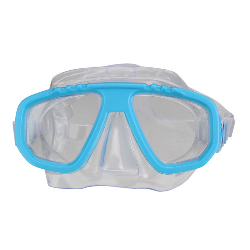 "6.75"" Sea Blue and Clear Newport Recreational Swim Mask for Kids"