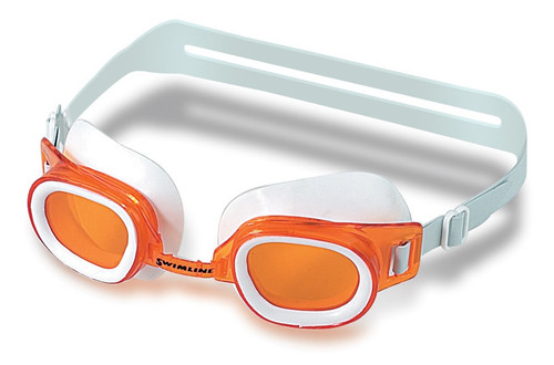 "6.25"" Orange Recreational St. Lucia Goggles Swimming Pool Accessory"