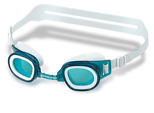 "6"" Blue Recreational Junior Goggles Swimming Pool Accessory for Ages 4 and up"