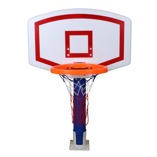 "24"" White and Blue Water Sports Jammin Basketball Poolside Above-Ground Swimming Pool Game"