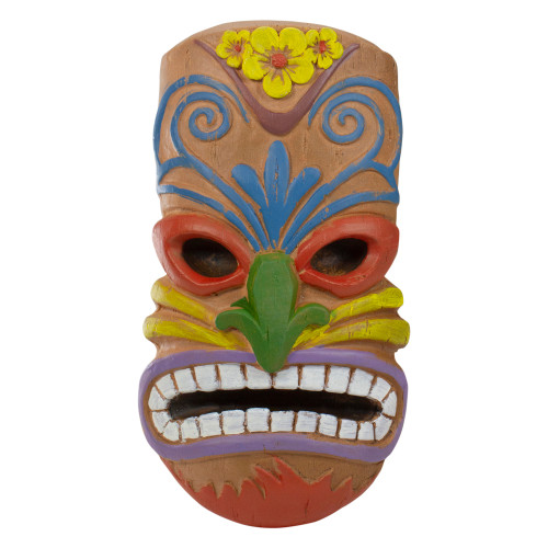 """13.5"""" Tiki Mask Frown Face Outdoor Wall Hanging"""