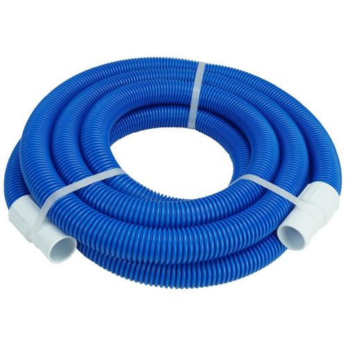 Blue and White Blow Molded Vacuum Hose with Swivel Cuffs 27' x 1.25""