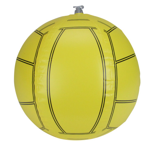 """16"""" Yellow and Black Inflatable Beach Volleyball Water Toy"""