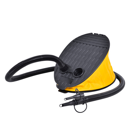 """9"""" Black and Yellow Portable Bellows Foot Pump"""