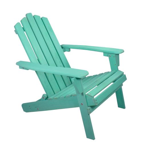 "36"" Green Classic Folding Wooden Adirondack Chair"