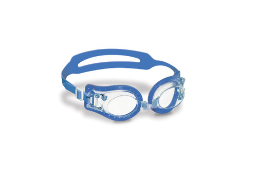 """7"""" Blue Jelly Goggles with Clear Case Swimming Pool Accessory for Kids"""
