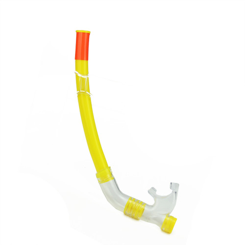 """16"""" Yellow and Clear Maxi-Purge Sport Water Swimming Pool Snorkel"""