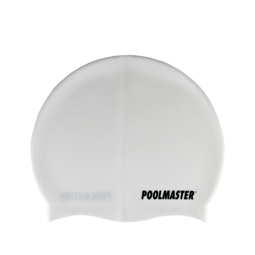 """8.5"""" White Swim Cap for Swimming Pools and Spas for Teens and Adults"""